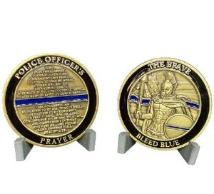 Police Bleed Blue Coin